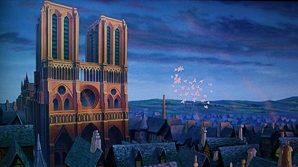 """The Hunchback of Notre Dame"" features the iconic cathedral heavily throughout the film."