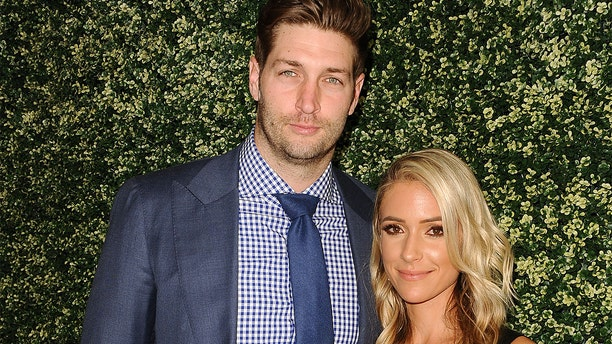 """Jay Cutler and Kristin Cavallari are pictured here during the """"Uncommon James"""" launch on April 27, 2017 in West Hollywood, Calif. In a clip from this Sunday's """"Very Cavallari"""" episode, the couple try to work on their marriage issues."""