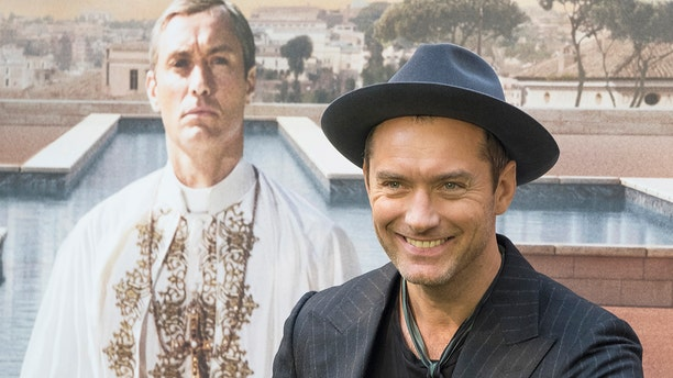 Actor Jude Law attends the 'The Young Pope' photocall at the Italian Embassy to Spain on October 11, 2016 in Madrid, Spain. (Photo by Oscar Gonzalez/NurPhoto via Getty Images)