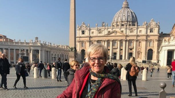 Mary Dispenza, representing SNAP at the Pope's summit on The sexual abuse of minors earlier this year.
