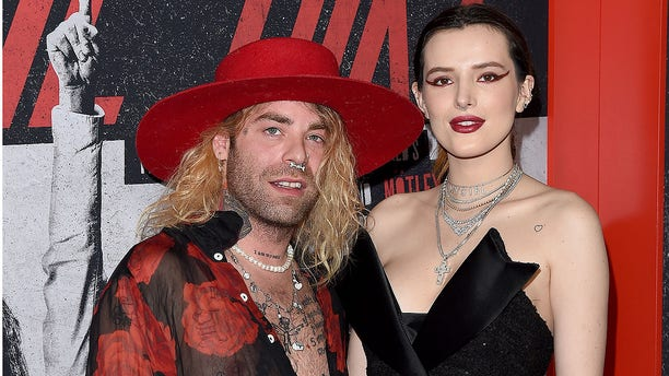 Mod Sun and Bella Thorne arrive at the premiere of Netflix's 'The Dirt' at ArcLight Hollywood on March 18, 2019 in Hollywood, California. (Photo by Axelle/Bauer-Griffin/FilmMagic)