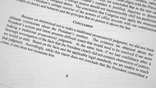 The portion of Special Counsel Robert Mueller's redacted report that Giuliani takes issue with.