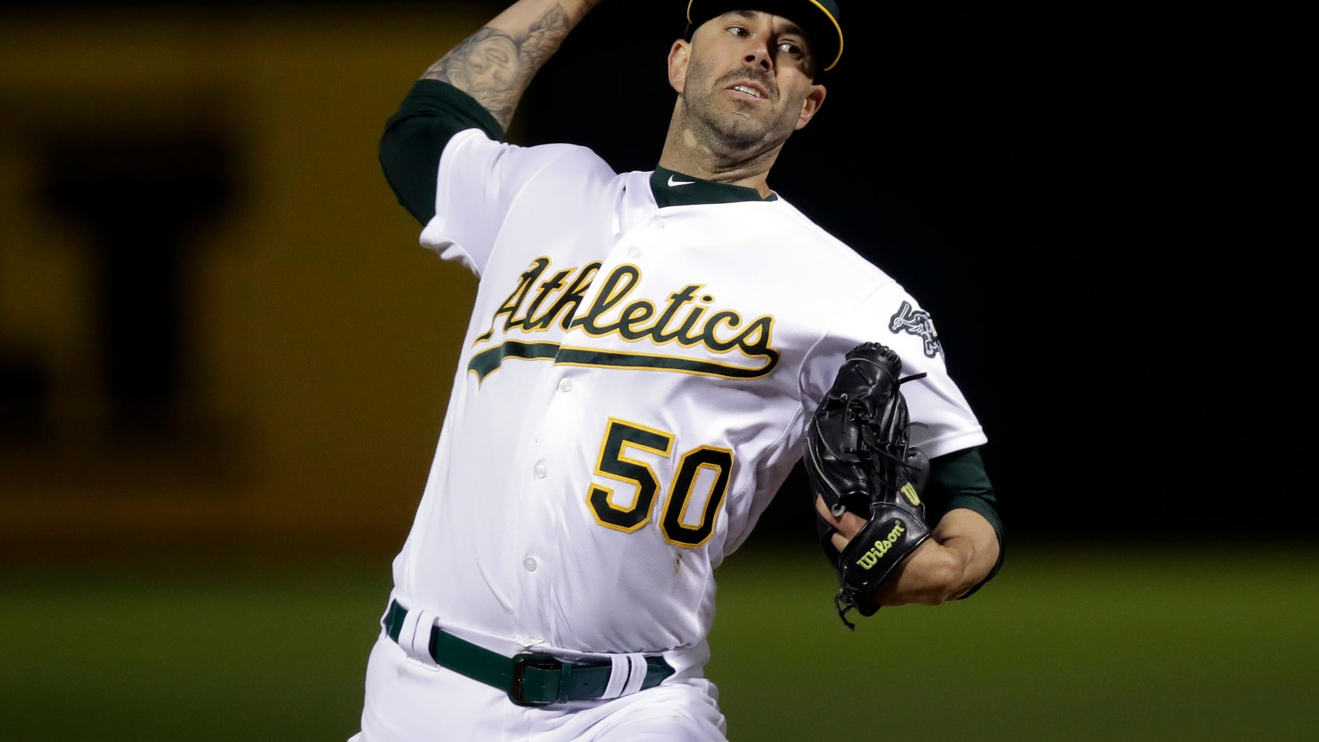 Oakland's Mike Fiers no-hits Reds in 2-0 victory