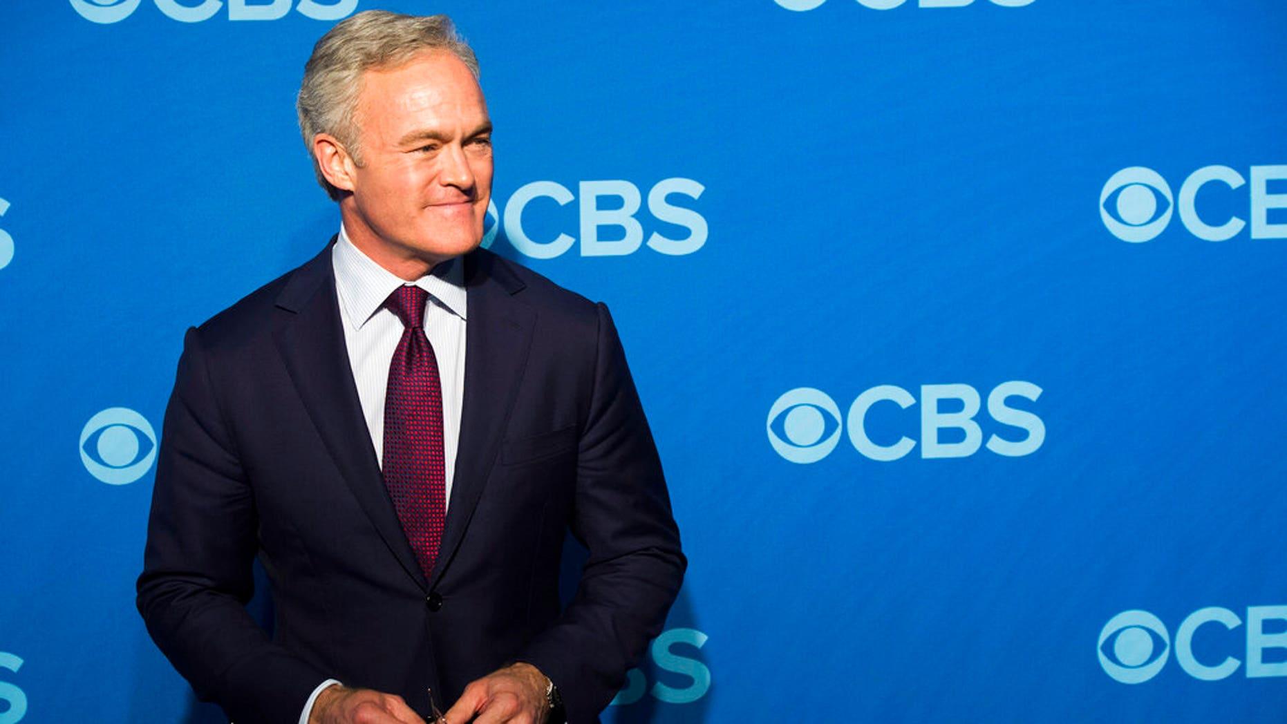 FILE: Scott Pelley attending the CBS Upfront in New York.