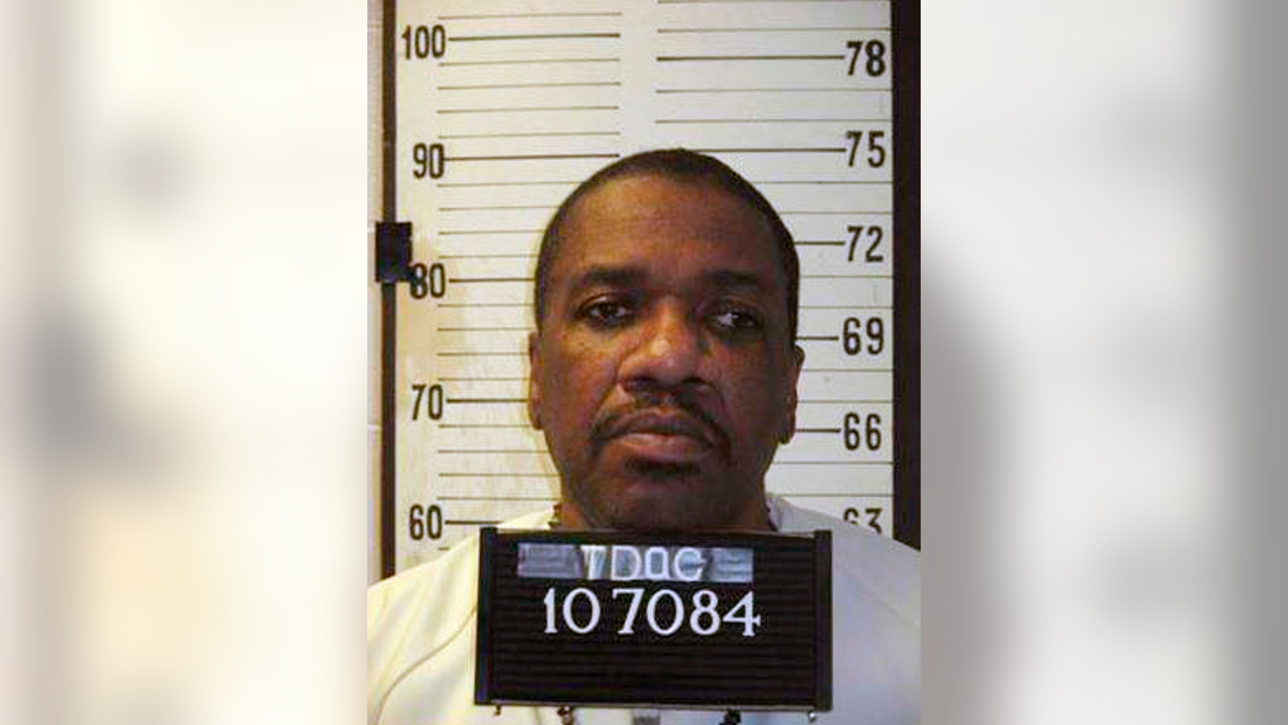 This undated photo provided by Tennessee Dept. of Corrections shows Charles Wright. Wright scheduled to be executed in October has died in prison less than a day after a fellow inmate was executed. According to the Tennessee Correction Department, Charles Wright was pronounced dead of natural causes at 11:57 a.m. on Friday, May 17, 2019 at the Riverbend Maximum Security Institution in Nashville, Tenn. (Tennessee Dept. of Corrections via AP)