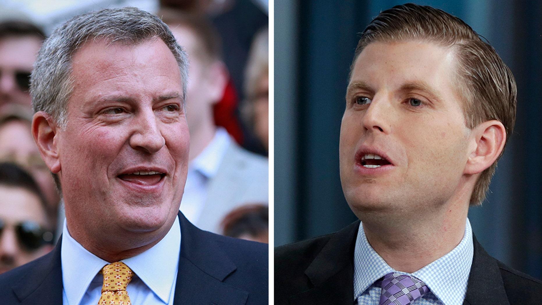 Westlake Legal Group DeBalsio-Eric-Trump Eric Trump clashes with Bill De Blasio on Twitter over New York City, Green New Deal Joseph Wulfsohn fox-news/politics fox-news/entertainment/media fox news fnc/politics fnc b718d003-f352-5bd1-a191-cd8ee7149794 article