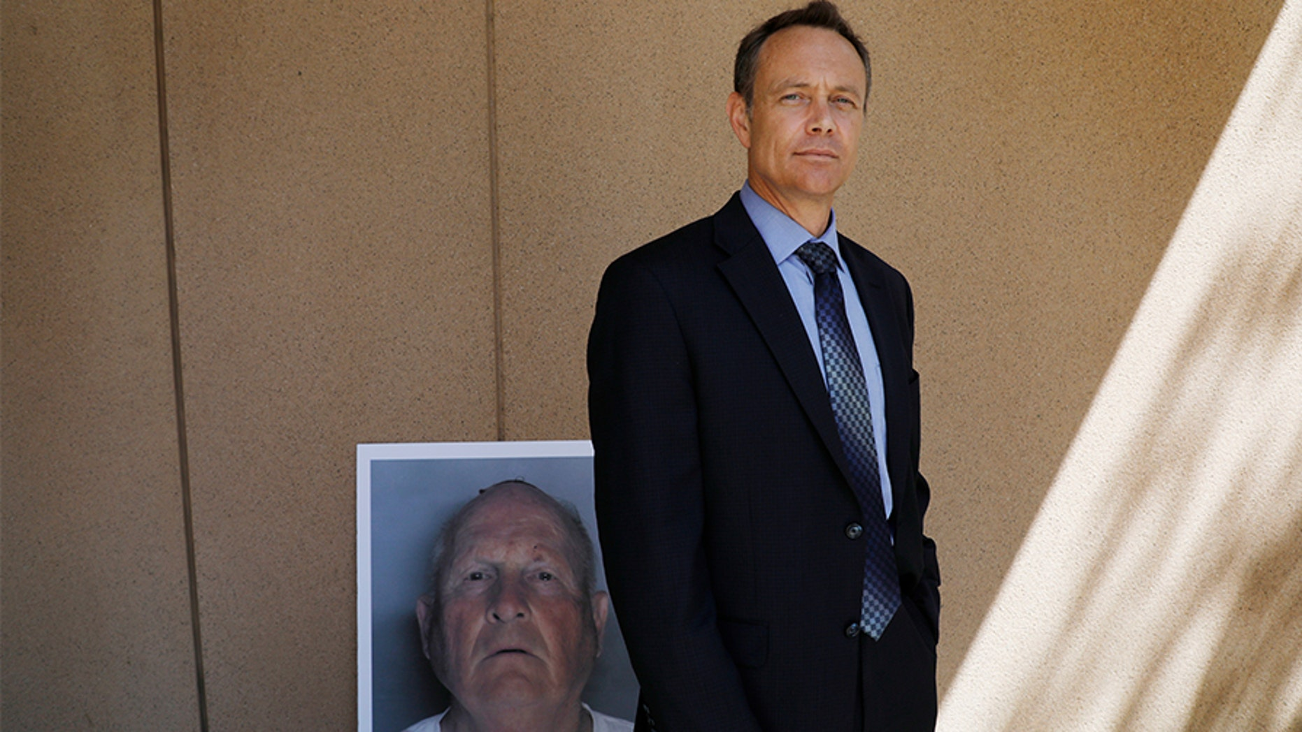"Paul Holes, retired Contra Costa investigator who spent 24 years investigating the ""Golden State Killer,"" is photographed outside the Sacramento District Attorney's office in Sacramento, Calif., on Wednesday, April 25, 2018."