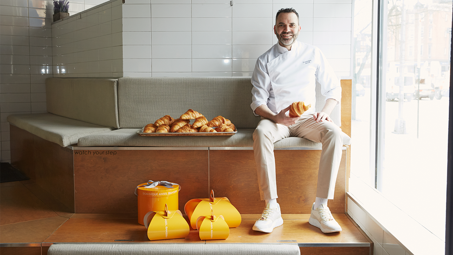"Dominique Ansel, the creator of the ""Cronut,"" has teamed up with Koio to design a croissant-inspired shoe."