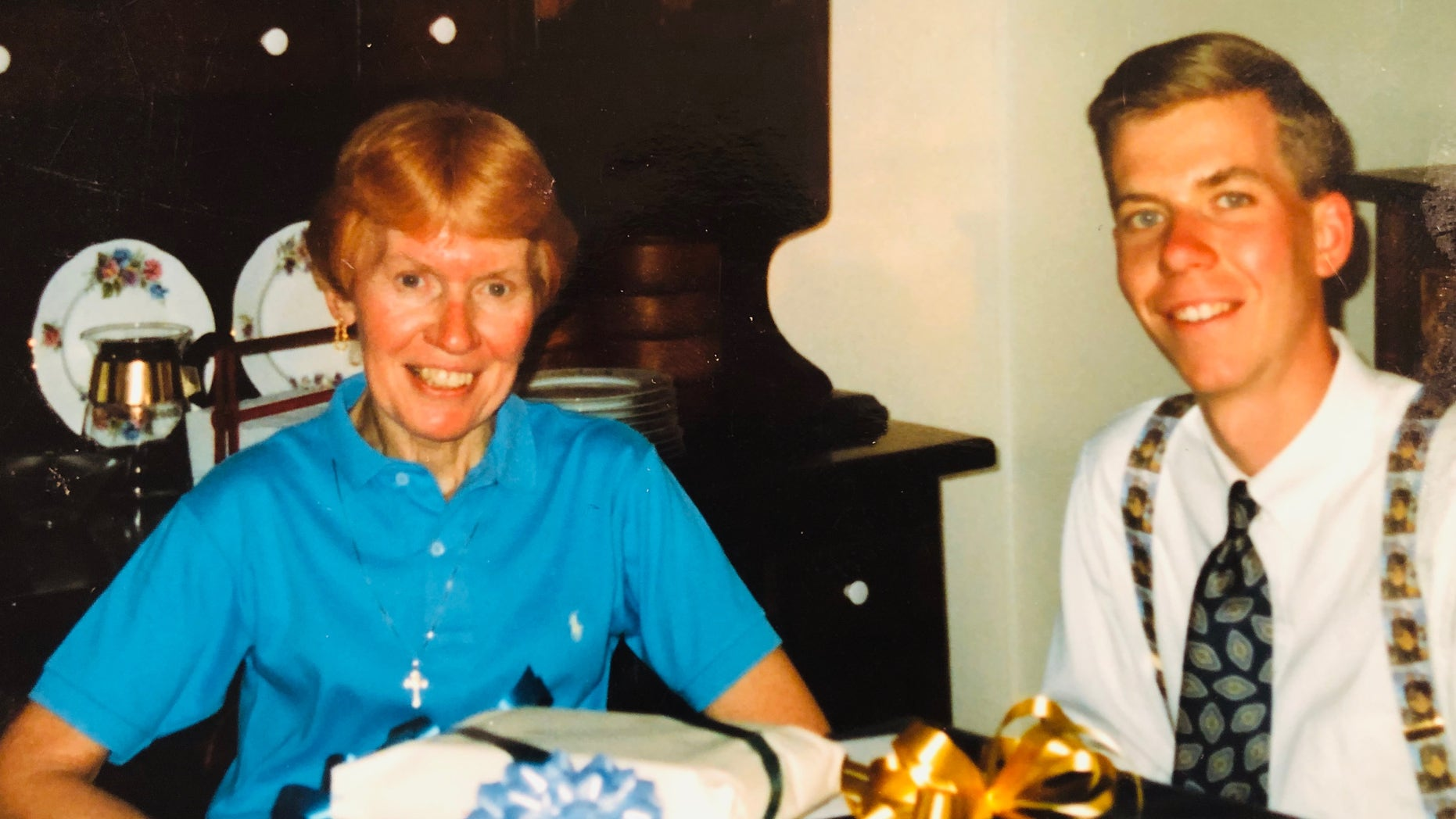 The author with his mother on Mother's Day 1991.