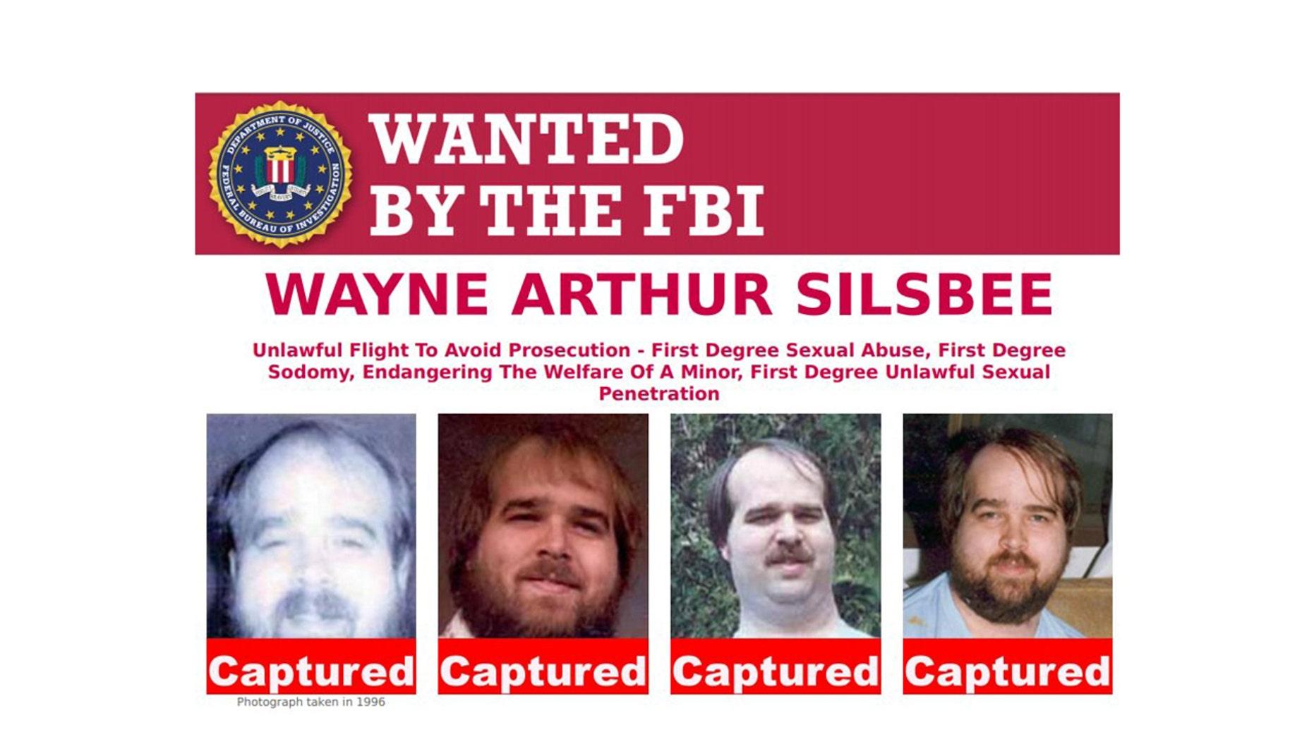 Wayne Arthur Silsbee turned himself into Oregon police on Friday.