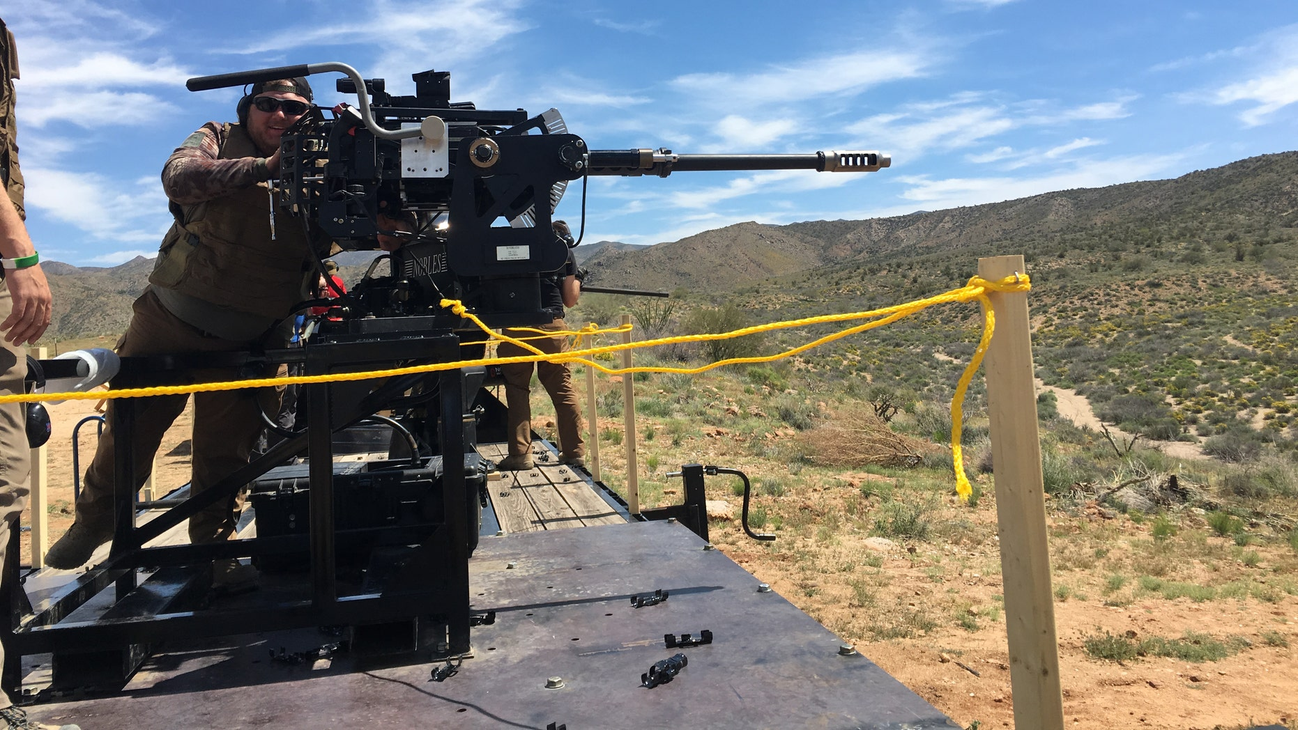 What it's like to fire the 30mm cannon that arms the Stryker armored vehicle