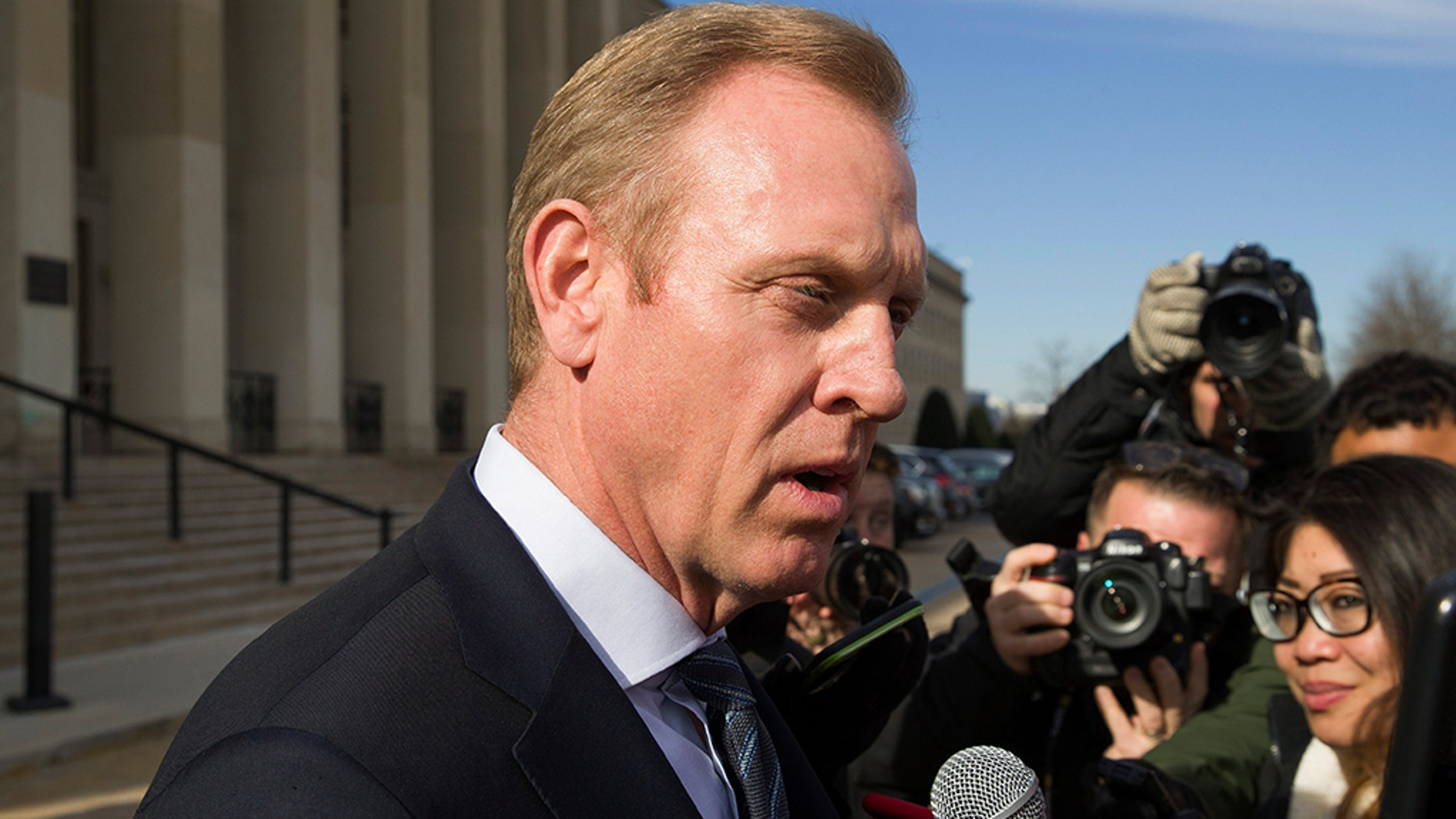 White House Press Secretary Sarah Sanders on Thursday said President Trump intends to nominate Patrick M. Shanahan to become the U.S. secretary of defense, following his time serving as acting secretary.