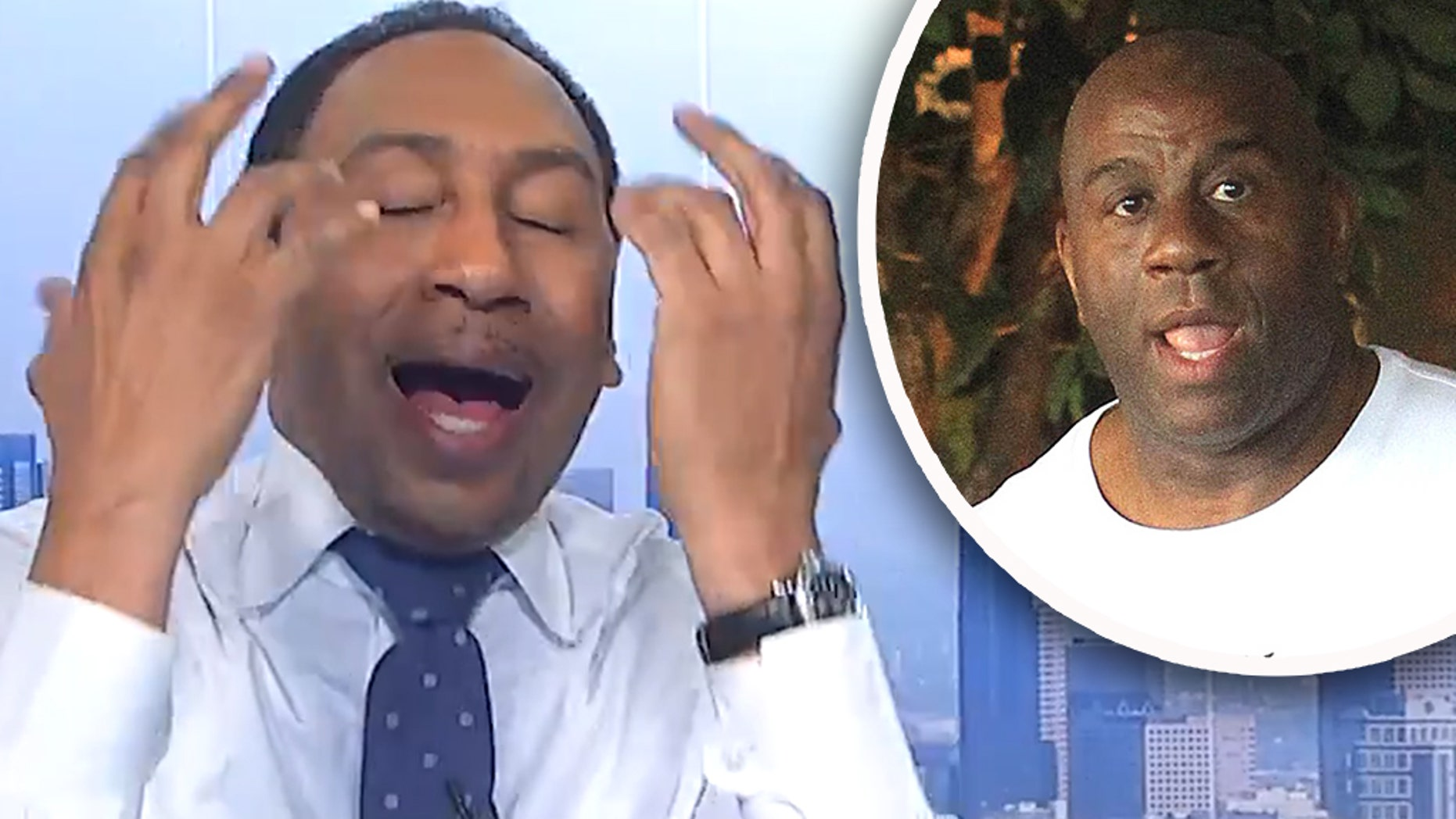 Stephen A. Smith, ESPN's big star, unloaded against the reporting of his own network over coverage of Magic Johnson's tenure as president of the Los Angeles Lakers.