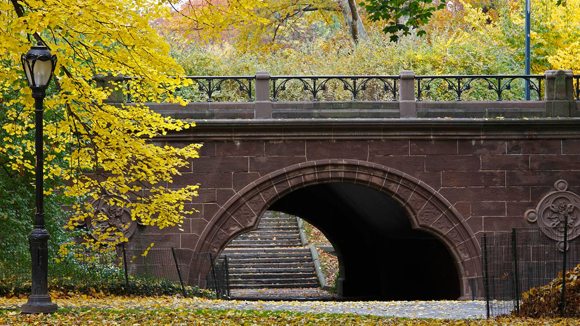 A man was found hanging from an overpass like this one, in an apparent suicide early Friday in New York's Central Park