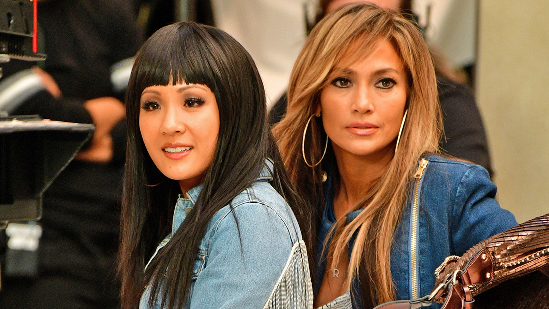 """Constance Wu and Jennifer Lopez film """"Hustlers"""" in West Nyack, N.Y."""