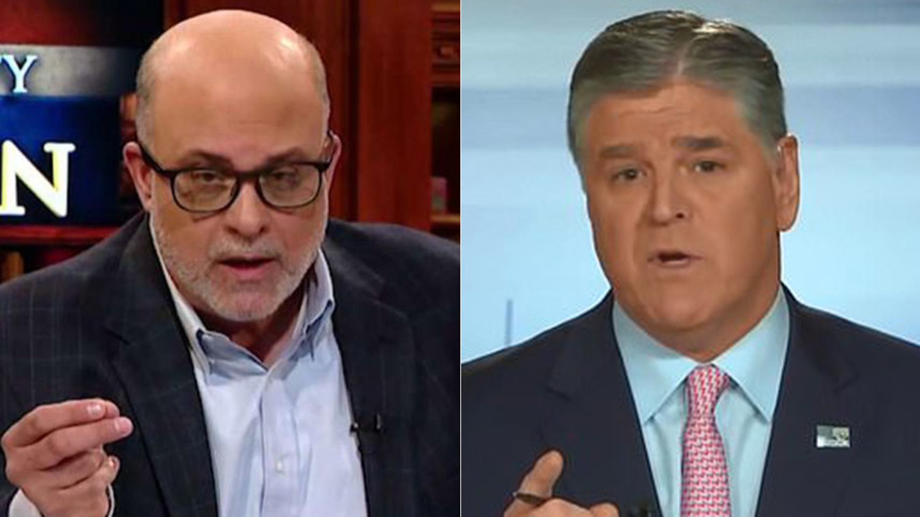 "Mark Levin told Sean Hannity the media has made an all-out push to 'take the president out' during a special episode of ""Hannity."""