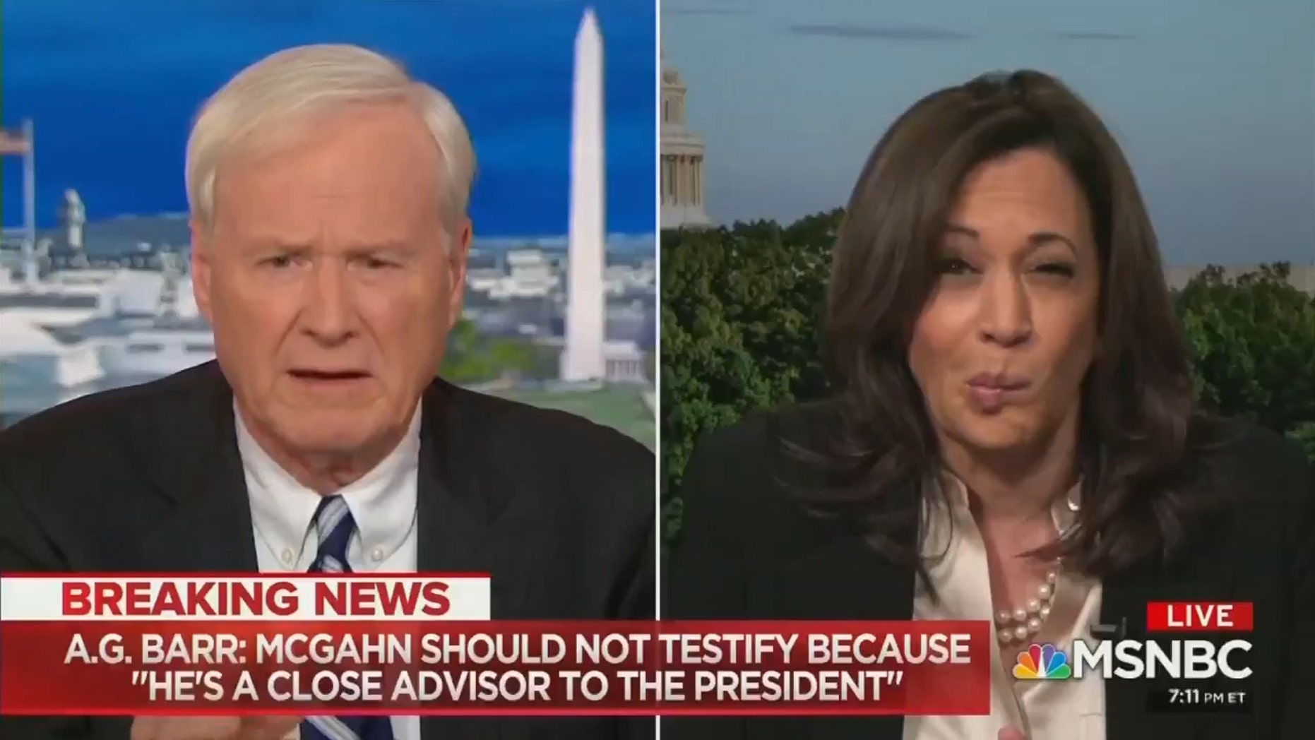 Westlake Legal Group harris-matthews MSNBC's Chris Matthews forced to apologize after likening executive privilege to losing virginity Lukas Mikelionis fox-news/person/kamala-harris fox-news/news-events/russia-investigation fox-news/entertainment/media fox news fnc/entertainment fnc article 91840d41-9f4f-50be-b18f-f8845e330f02