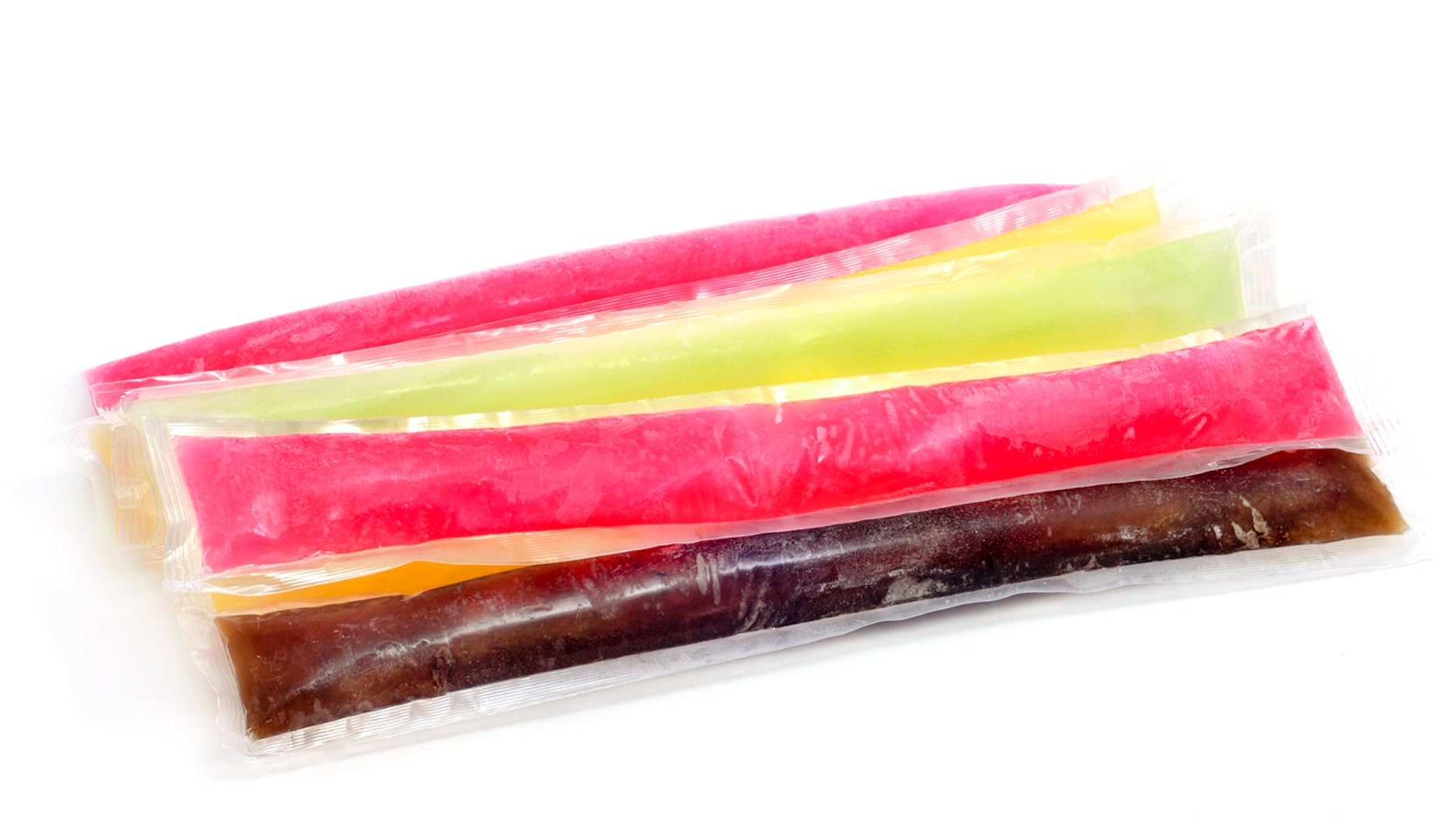 What do you call the clear plastic tubes of bright, sweet, fruity frozen ice? You know, the ones that are always displayed en masse at the front of the grocery store as soon as it hits 75 degrees?
