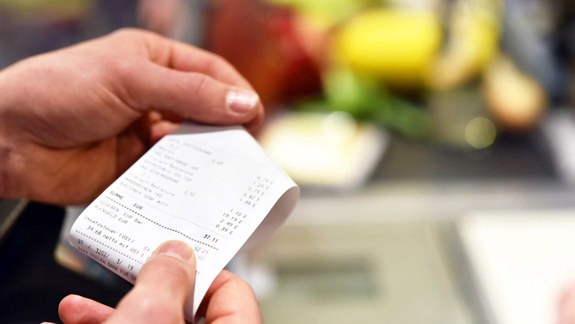 A photo of the receipt (not shown) showed the meal for two came to a hefty €81.40 ($90.89) and shocked social media users when it was shared online.
