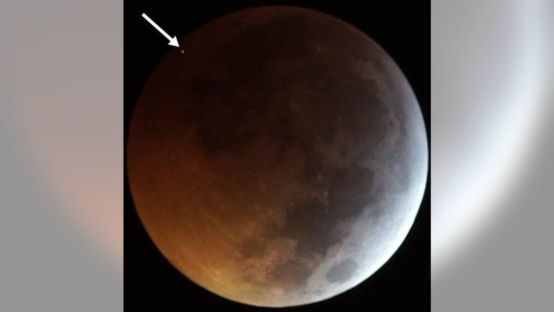 When the moon went dark on January 21, 2019, it got smacked in the face by a rock traveling 38,000 mph (61,000 km/h).
