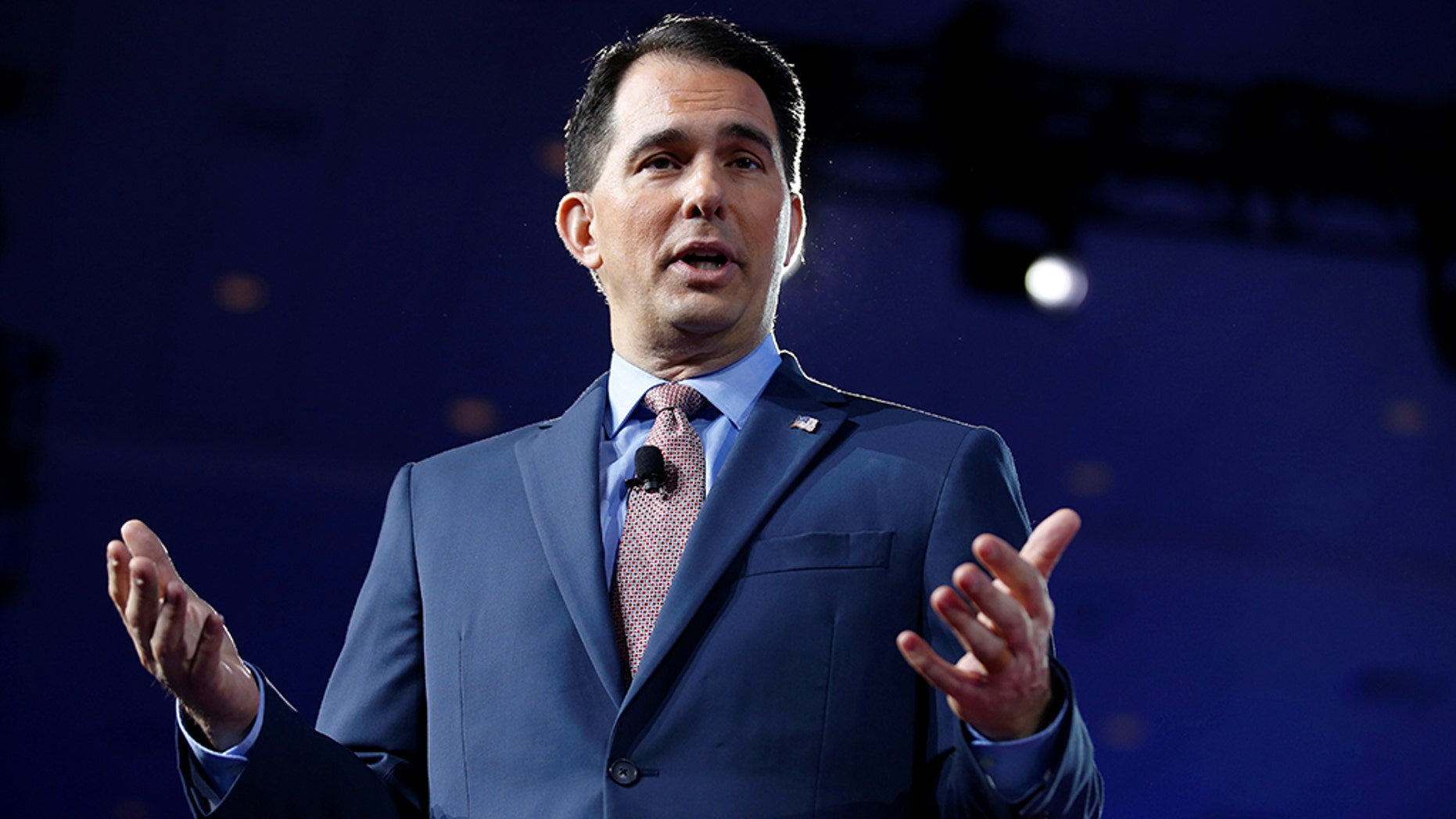 Former Wisconsin Gov. Scott Walker has a new mission that keeps him engaged in politics: advocating for a balanced budget amendment to the United States Constitution. REUTERS/Joshua Roberts