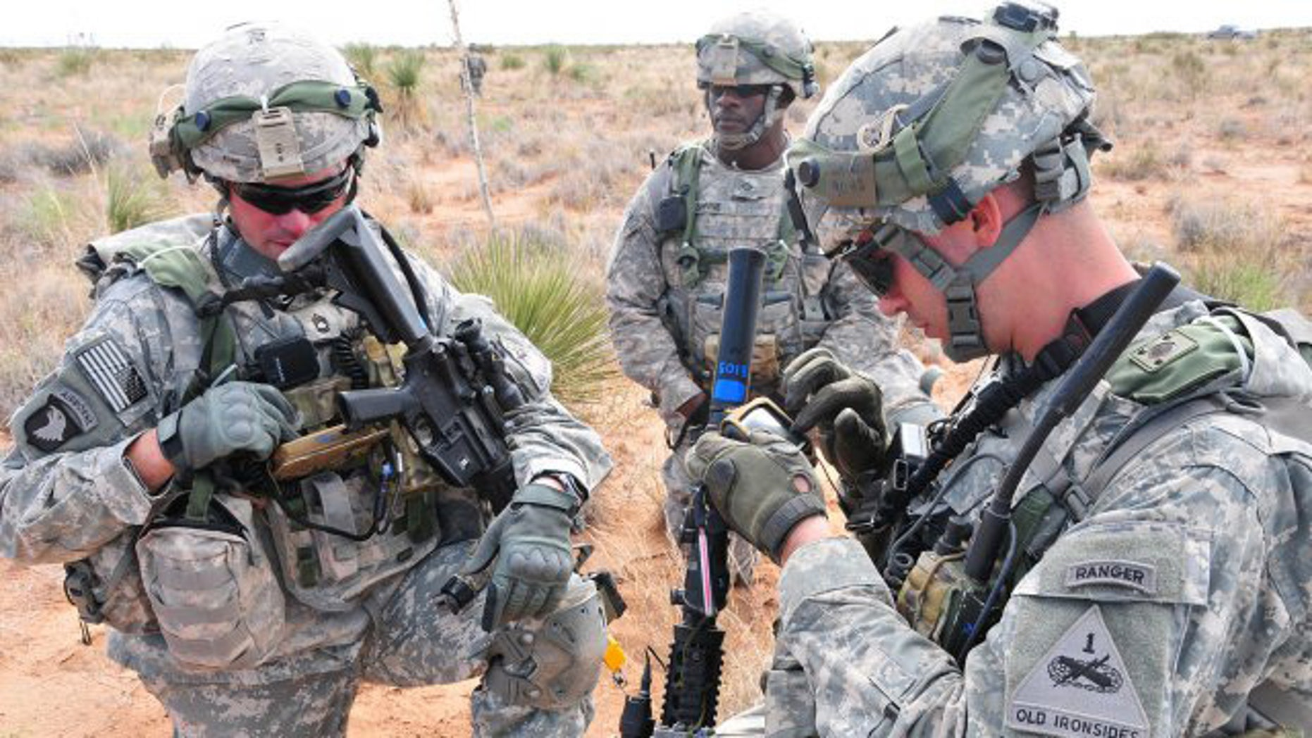 Soldiers often rely on GPS to know their location and to help with successful mission planning - file photo.