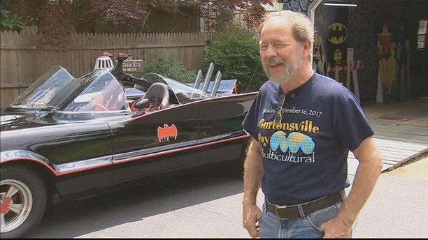 Bill Gibson, who drives a 1966 Batmobile replica, tracked down a hit-and-run driver after they struck his vehicle over the weekend.