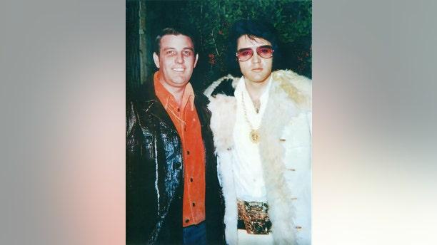 Bill Morris (left) with Elvis Presley.