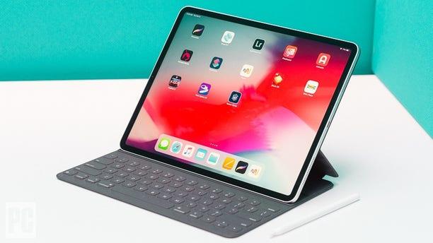 The Apple iPad Pro is seen above.