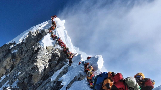 About half a dozen climbers died on Everest in May most while descending from the congested summit during only a few windows of good weather each May.