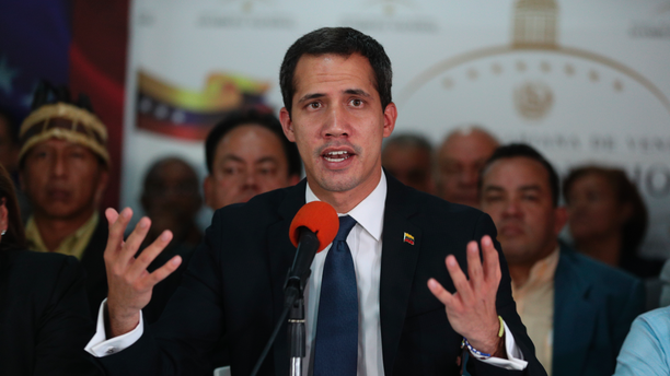 Venezuela's opposition leader and interim president Juan Guaido, speaks during a press conference at his campaign office in Caracas, Venezuela, Tuesday, May 14, 2019. Since declaring Venezuela's President Nicolas Maduro as illegitimate, Guaidó has been in the midst of a power struggle with Maduro. (AP Photo/Martin Mejia)