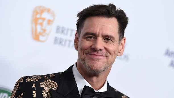 Jim Carrey arrives at the 2018 BAFTA Los Angeles Britannia Awards at the Beverly Hilton on Friday, Oct. 26, 2018, in Beverly Hills, Calif. (Photo by Jordan Strauss/Invision/AP)