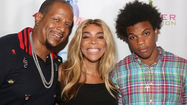 Kevin Hunter, Wendy Williams and son Kevin Hunter Jr. pose at a celebration for The Hunter Foundation Charity that helps fund programs for families and youth communities in need of help and guidance at Planet Hollywood Times Square on July 11, 2017 in New York. Kevin Sr. and Williams have since split.