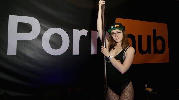 LAS VEGAS, NV - JANUARY 25: Adult film actress Lindsey Love poses in the Pornhub booth during the 2018 AVN Adult Expo at the Hard Rock Hotel & Casino on January 25, 2018 in Las Vegas, Nevada. (Photo by Gabe Ginsberg/FilmMagic)