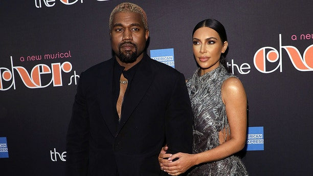 "Kanye West and Kim Kardashian West attend the opening night of ""The Cher Show"" at Neil Simon Theatre on December 3, 2018, in New York City."
