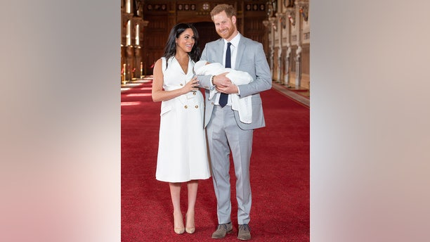 Meghan Markle and Prince Harry showed off their royal baby two days after his birth.