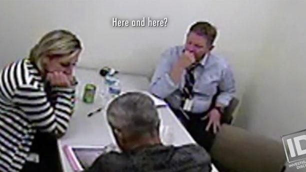Chris Watts being interrogated by investigators. — ID