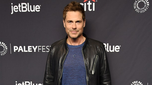 """Rob Lowe attends """"Parks And Recreation"""" 10th anniversary reunion party on March 21, 2019 in Hollywood, Calif."""