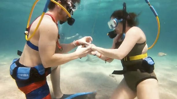 Travis Grenier proposed to girlfriend Kenna Seitz on Aril 27 during their getaway in Punta Cana.