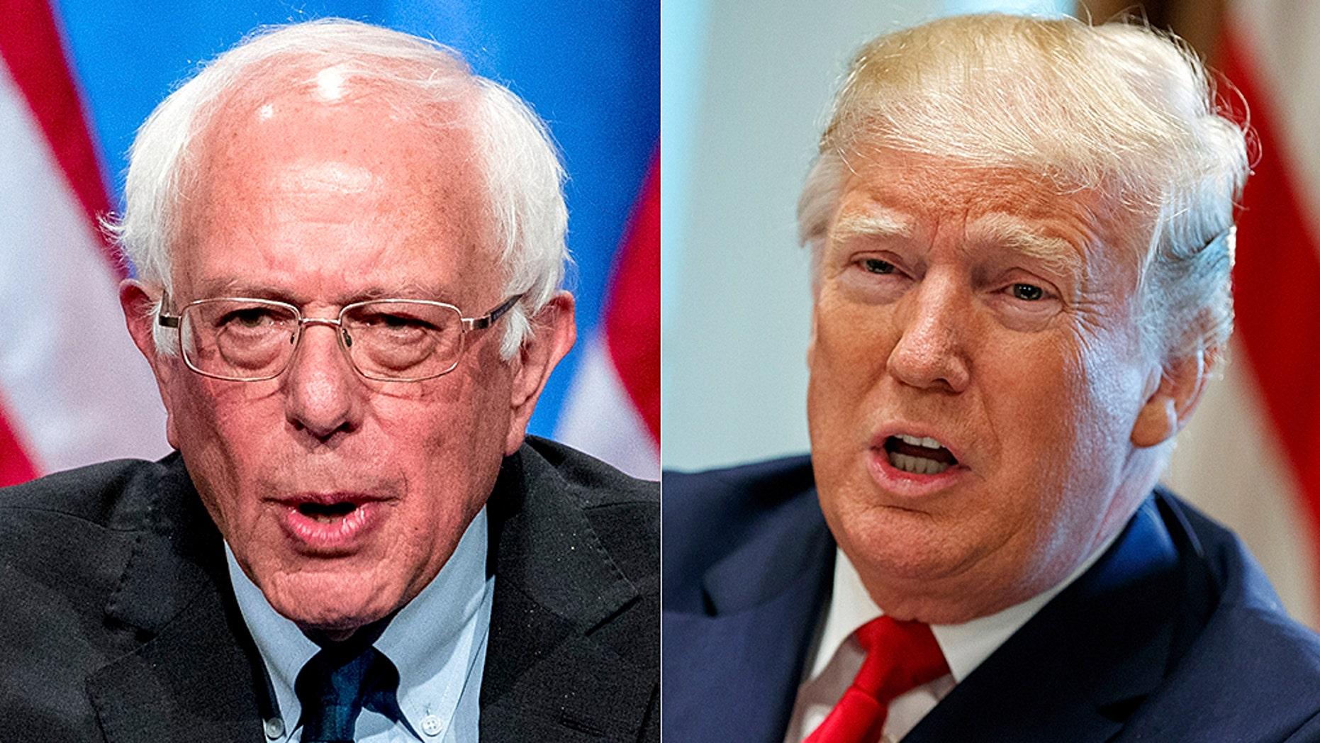 "Bernie Sanders has slammed President Trump, labeling him a ""racist, sexist, homophobe and religious bigot"""