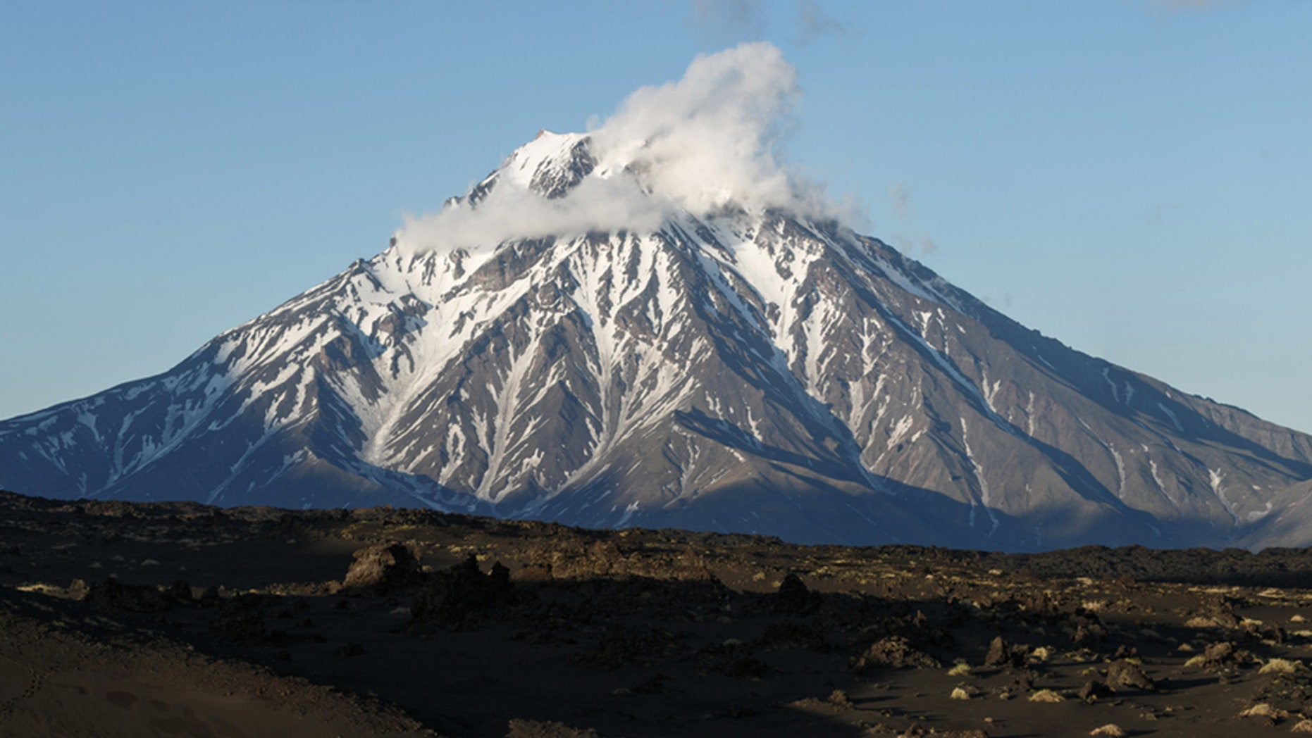 The Bolshaya Udina volcano in Kamchatka Peninsula Russia. Scientists say the volcano, previously classified as extinct could be waking up due to increased seismic activity below it.