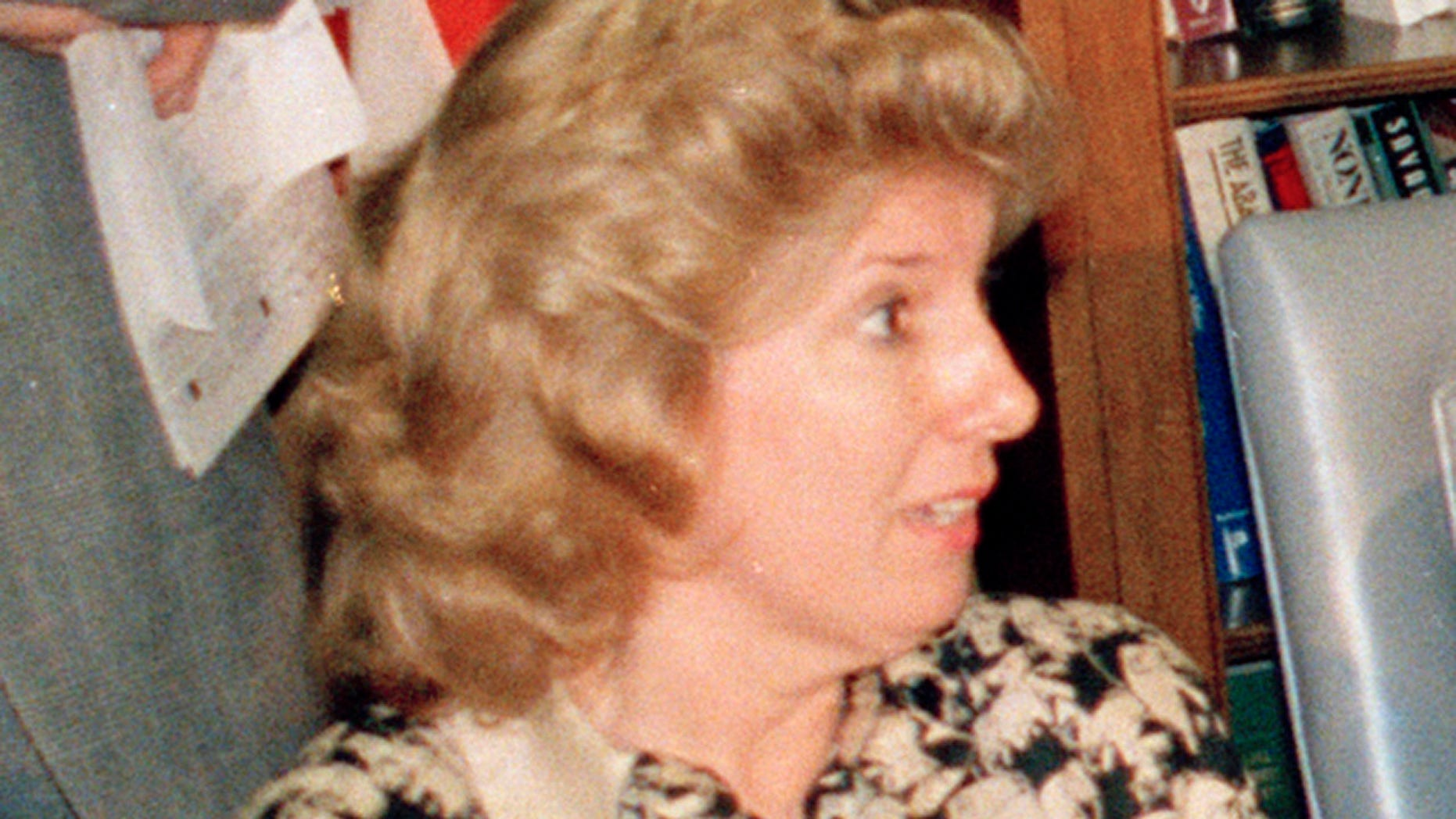 """""""Central Park Five"""" Prosecutor Linda Fairstein during a news conference in New York in 1988. (AP Photo/Charles Wenzelberg, File)"""