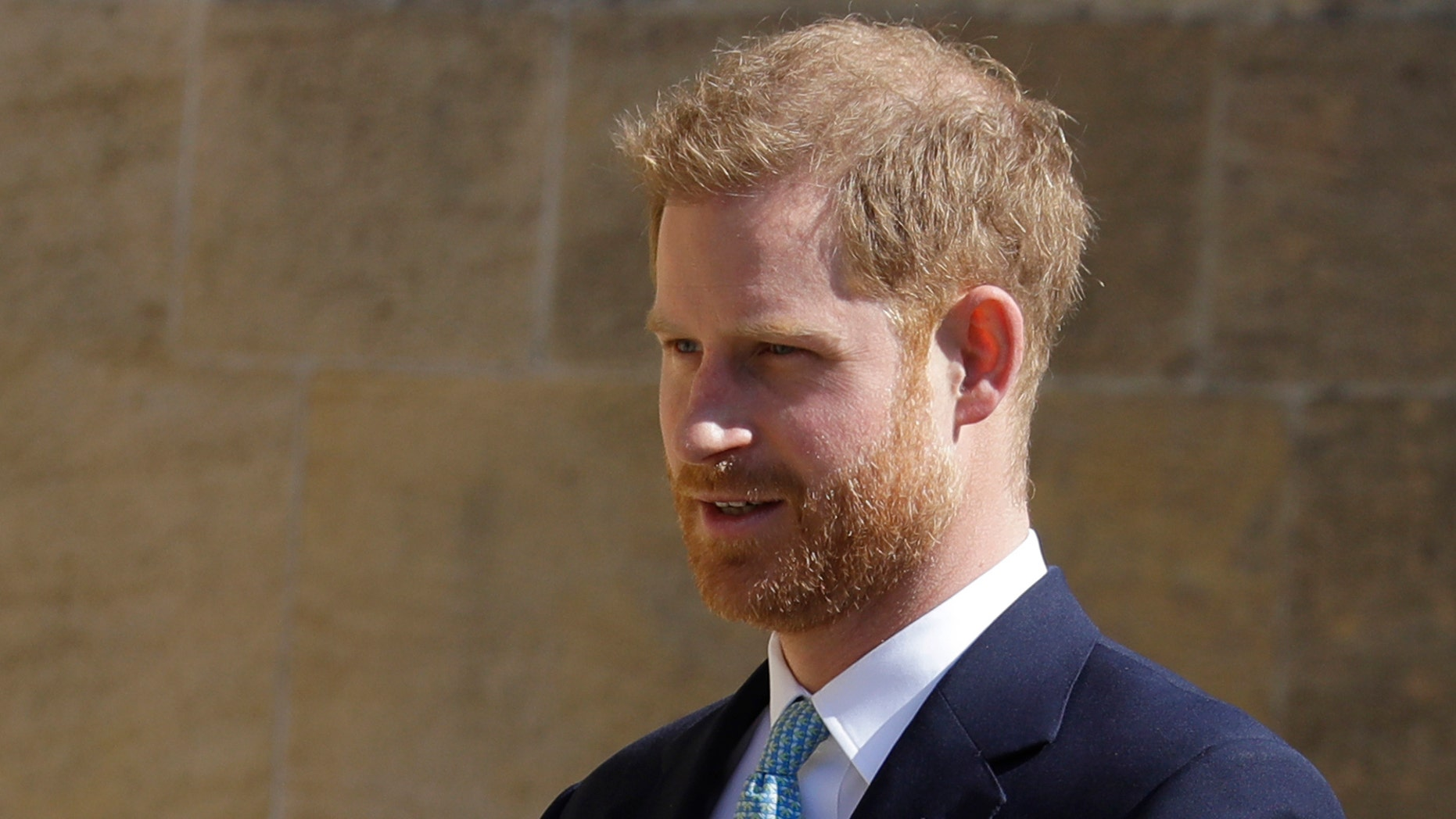 DOSSIER - In this archive photo from Sunday, April 21, 2019, the British Prince of England arrives to attend the Easter Easter service at St. George's Chapel, Windsor Castle, England. Prince Harry is supporting Angola's new £ 47 million landmines clearance initiative, which is expected to protect lives and help communities through conservation-oriented development. Speaking Monday at the Chatham House think tank, Harry took over for a cause dear to his mother, the late Princess Diana, who worked with the Halo Trust on mine clearance issues. (AP Photo / Kirsty Wigglesworth, file)