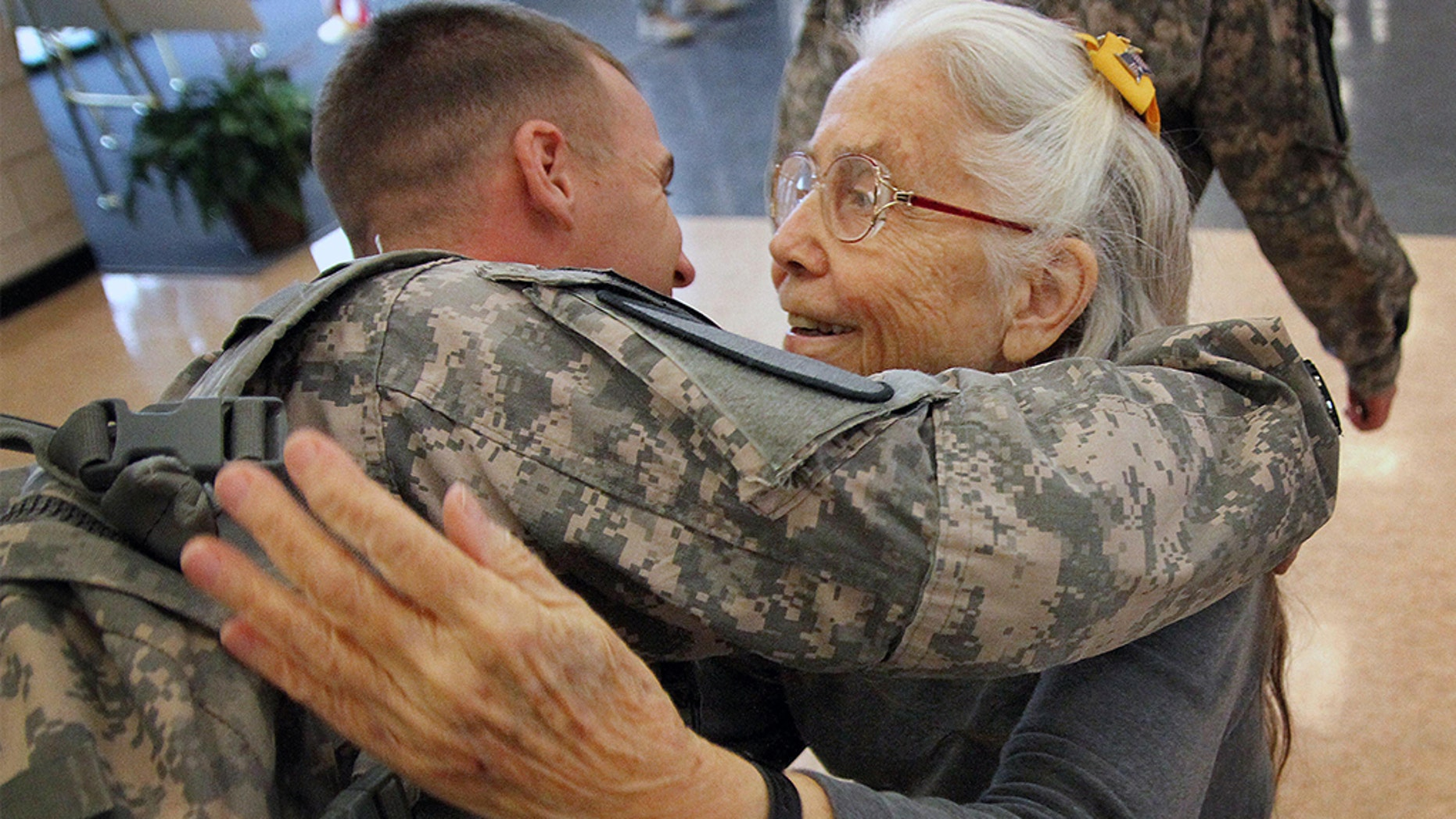 Westlake Legal Group Elizabeth-Laird-Hug-Lady-AP Petition calling for terminal to be named after Fort Hood's 'hug lady' gains steam Frank Miles fox-news/us/personal-freedoms/proud-american fox news fnc/us fnc f42a8ac0-5127-5b20-b083-3471e50b7aa5 article