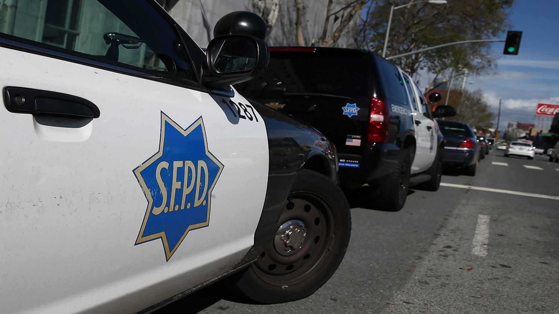 SFPD patrol cars.
