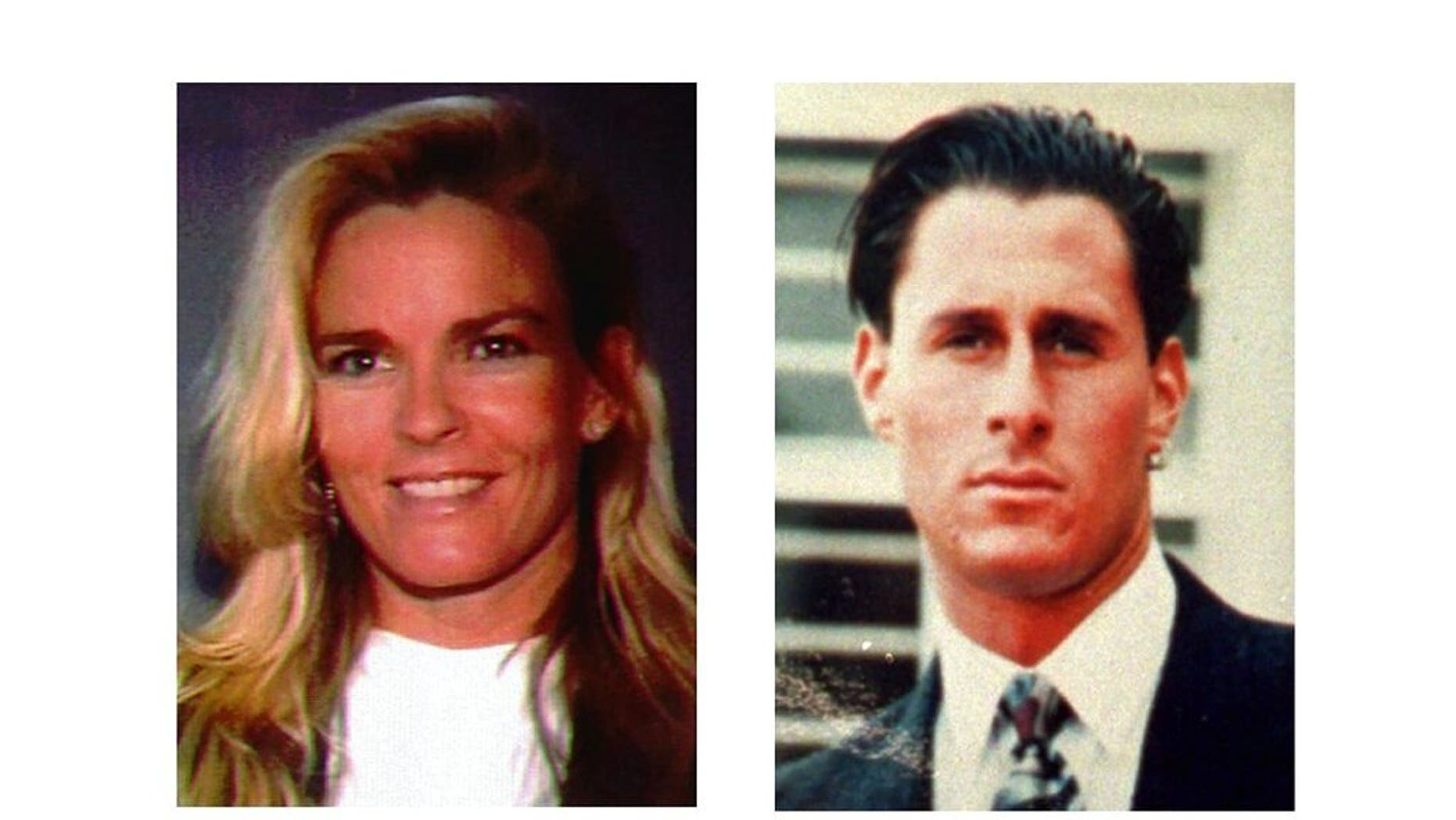 "FILE - This file combination photo shows Nicole Brown Simpson, left, and Ron Goldman. The June 12, 1994, killings of Nicole Brown Simpson and her friend Ron Goldman brought the ""Trial of the Century"" that saw O.J. Simpson acquitted of the murders. (AP Photo, File)"
