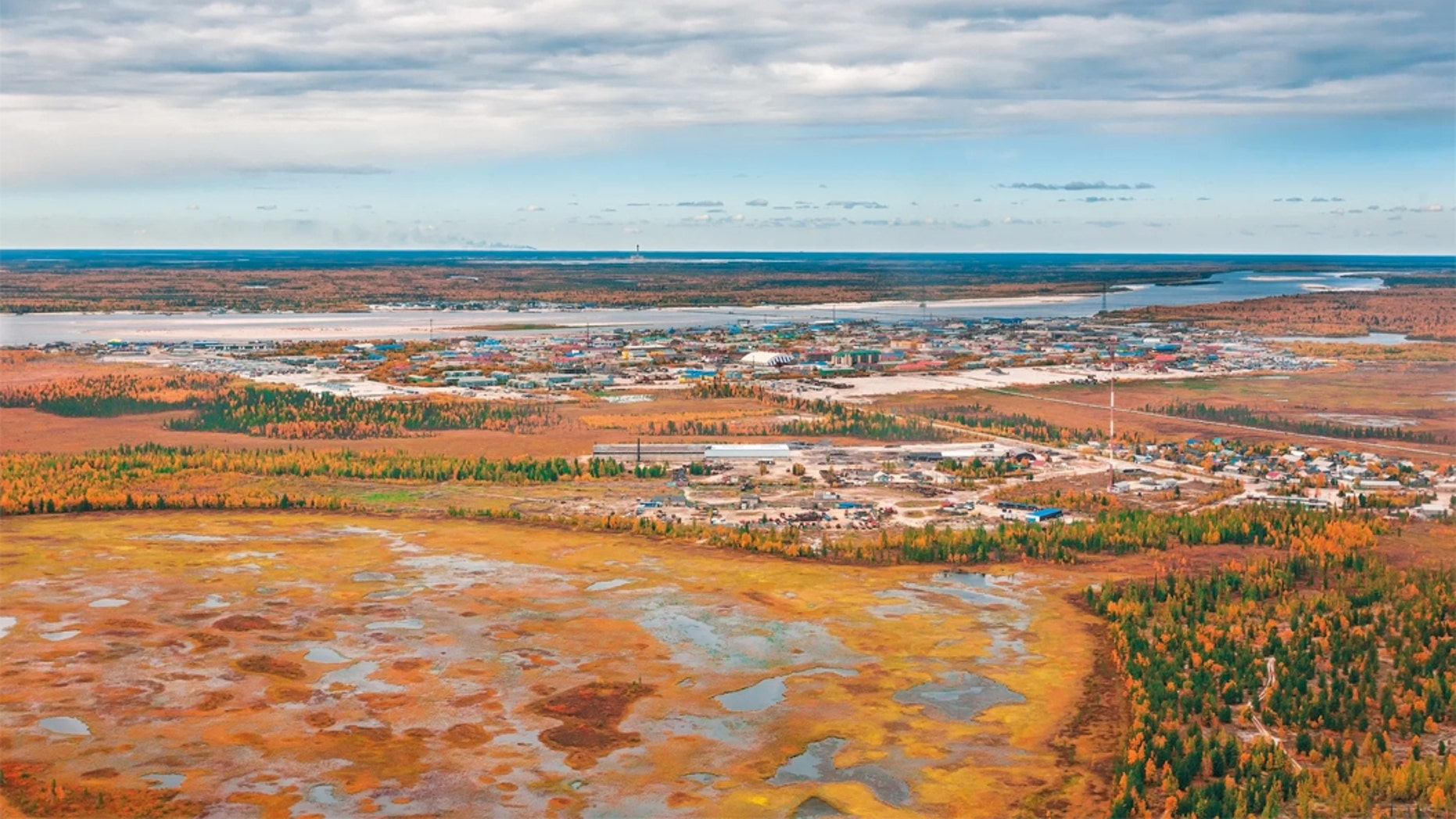 Melting permafrost on a Jamal segment of Russia. New investigate suggests that permafrost in a Canadian Arctic is melting rapidly, and vast swaths of permafrost worldwide are exposed to this accelerated thawing Credit: Georgy Golovin/Getty
