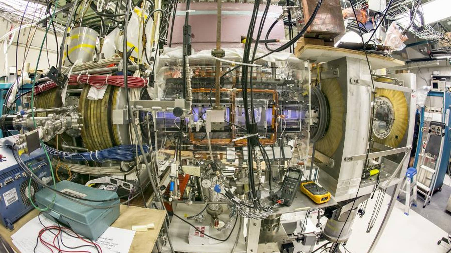 The Princeton Field Reversed Configuration device, the PFRC-2, at Princeton Plasma Physics Laboratory in New Jersey.