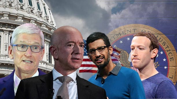 The biggest players in Silicon Valley are under increasing scrutiny from the U.S. government. Apple CEO Tim Cook, Amazon CEO Jeff Bezos, Google CEO Sundar Pichai and Facebook CEO Mark Zuckerberg.