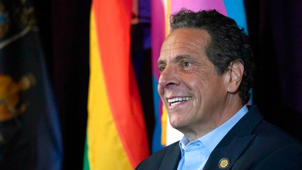 FILE: New York Gov. Andrew Cuomo speaks at the Lesbian, Gay, Bisexual & Transgender Community Center.